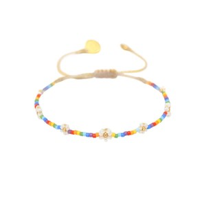 Rainbow Flower Bracelet Cream/Multi