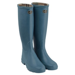 Le Chameau Iris Jersey Lined Boot in Bleu Clair