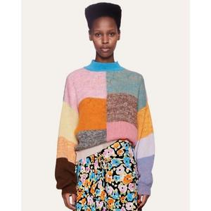 Adonis Gingham P/Work Knit Multicolour
