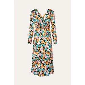 Stine Goya Lola L/S Wrap Floral Dress Watercolour Flora
