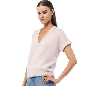 360 Sweater Audrina S/S Wrap Top in Bisque