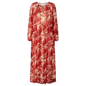 Luciana L/S Floral Dress Red/Off White