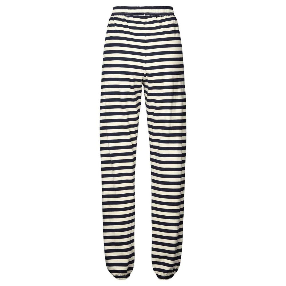 Lollys Laundry Mona Stripe Jersey Trs Navy/Off White