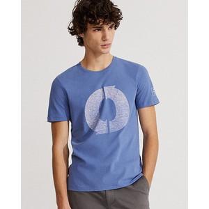 Logo Print T Shirt Indigo