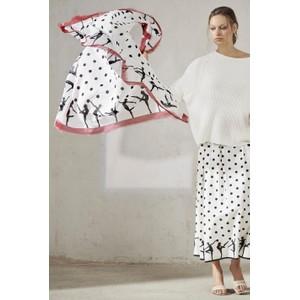 Luisa Cerano Ballet Dancers Dot Scarf Primrose/White/Black