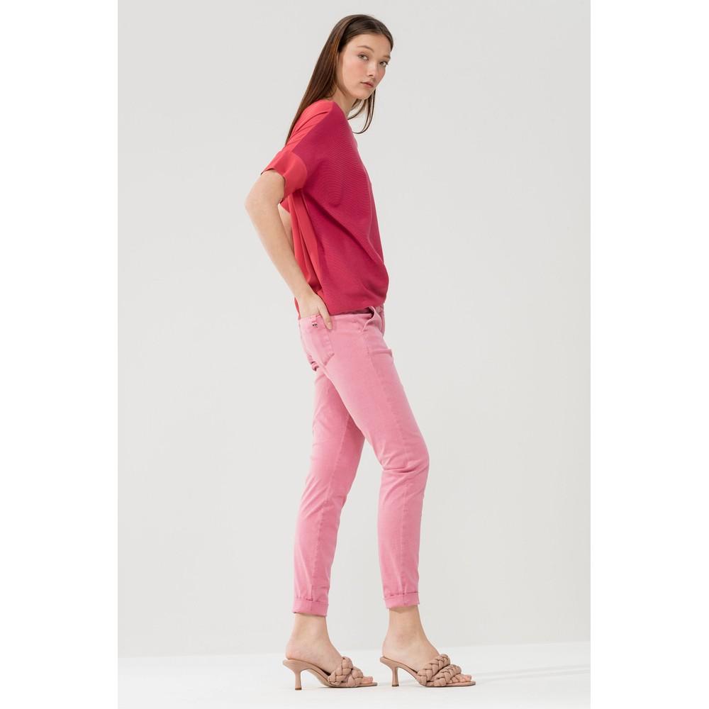 Luisa Cerano Turn Up Skinny Leg Trousers Primrose