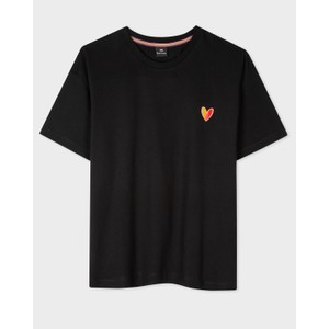 Heart T Shirt Black