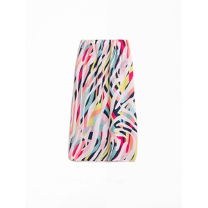 Maty Zebra Print Skirt Nude/Multi