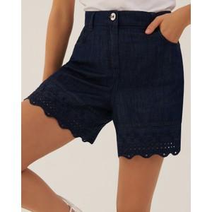 Marella Drive Emb Ang Hem Shorts Indigo Denim