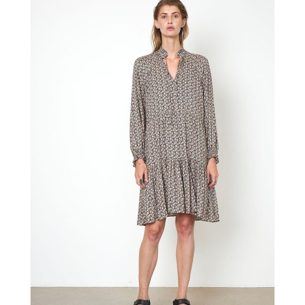Second Female Frank Floral Dress w/ Slip Black/Multi