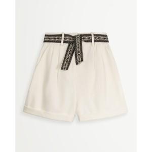 Billie Woven Belt Shorts White