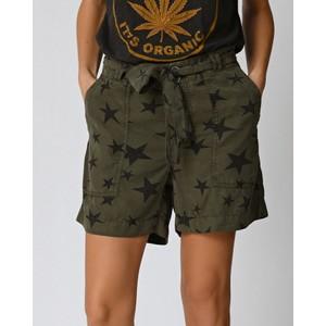 Felicie Star Print Shorts Khaki