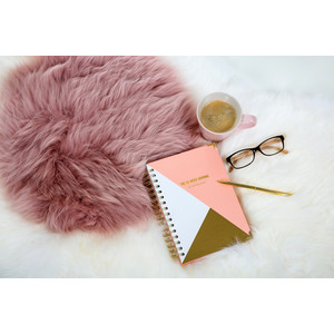 Sheepskin Cushion - Circle Dark Rose