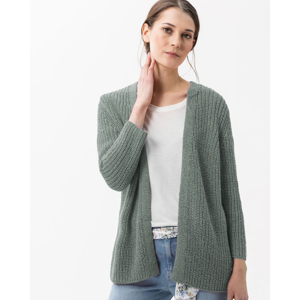 Brax Anique Chunky Open Cardi Taupe