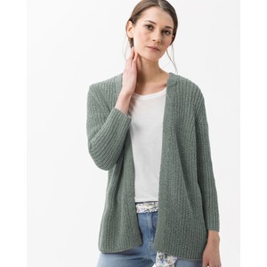 Anique Chunky Open Cardi Taupe