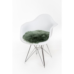 Sheepskin Cushion - Circle Evergreen
