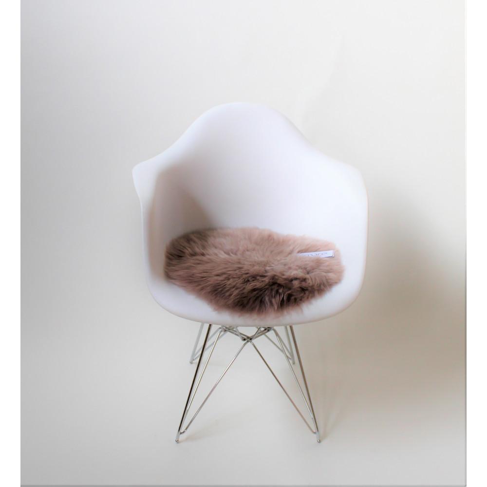 Fibre Sheepskin Cushion - Circle Rose Quartz