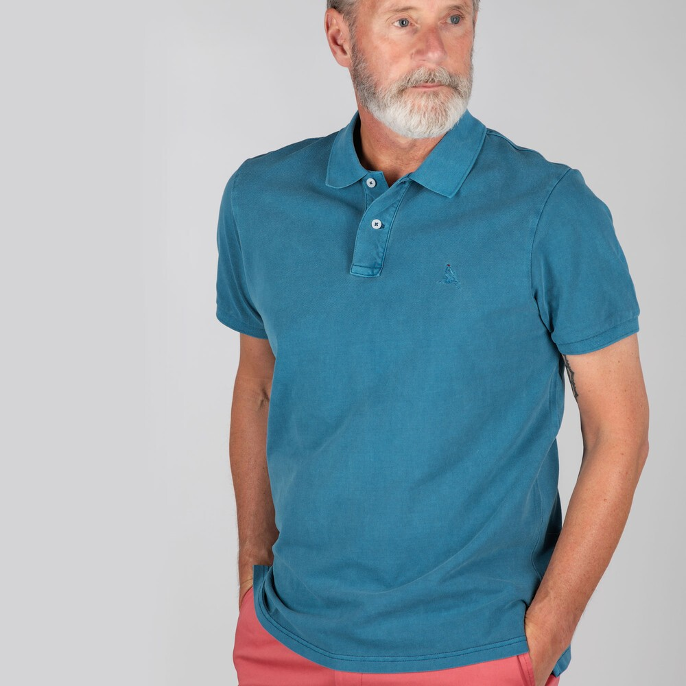 Schoffel Country St Ives Classic Polo Shirt Mykonos Blue