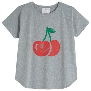 S/S Marl Cherry T-Shirt Mid Grey