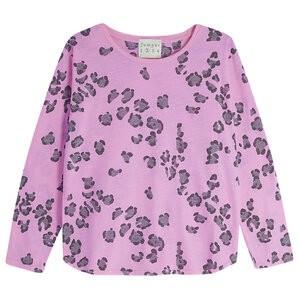 L/S Leopard T-Shirt Neon Pink