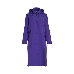 Ulla Long Mac w/ Side Zips Purple