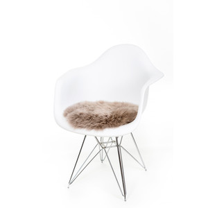 Fibre Sheepskin Seat Pad - Circle in Vole