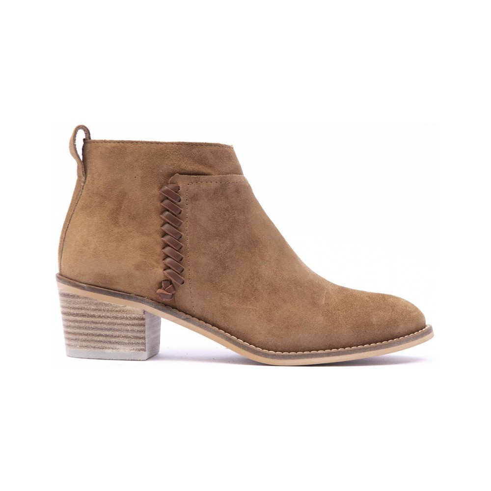 Alpe Weave Detail Ankle Boot Tan