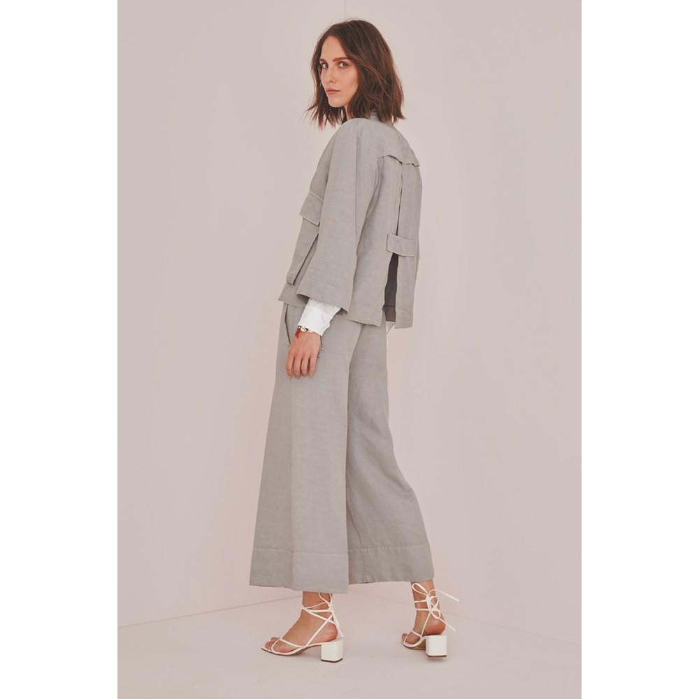 European Culture Slit Back 2 Pkt Blazer Dove Grey