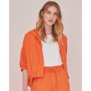S/S Cropped Hooded Jkt Orange