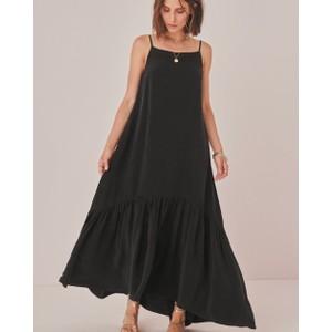S/L Strappy Maxi Dress Black