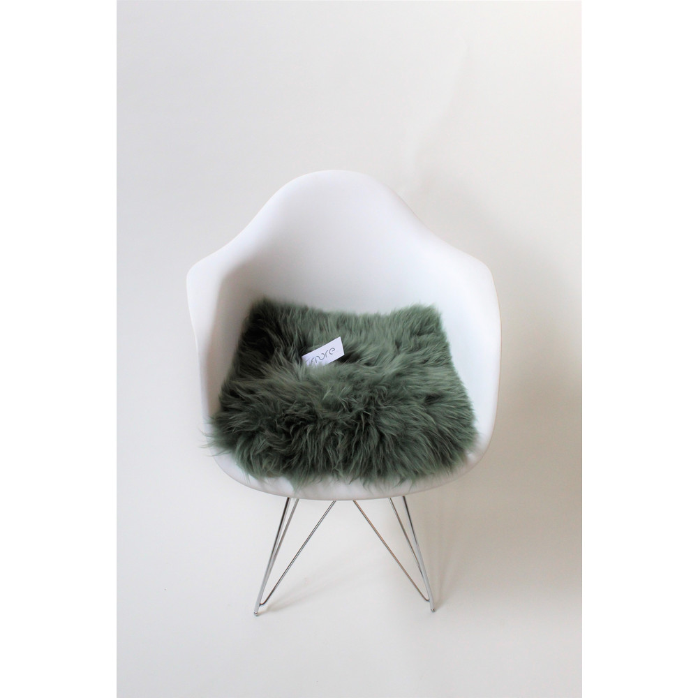 Fibre Sheepskin Cushion - Square Evergreen
