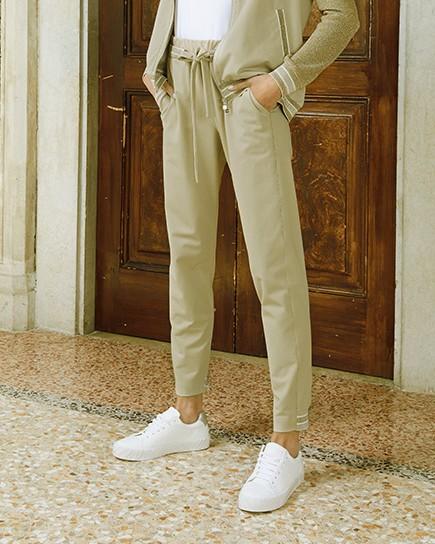 D Exterior Faux Suede D/String Trousers Sand