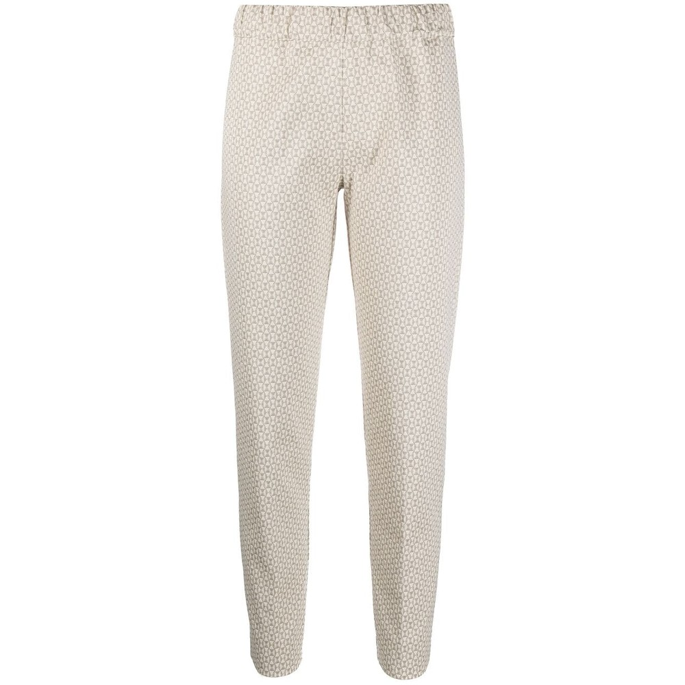 D Exterior Geo Print Tapered Trousers Resin