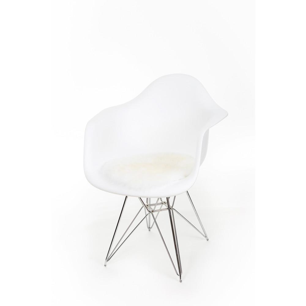 Fibre Sheepskin Seat Pad - Square Ivory
