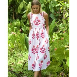 Botanical S/L Floral Dress Rose Marigold