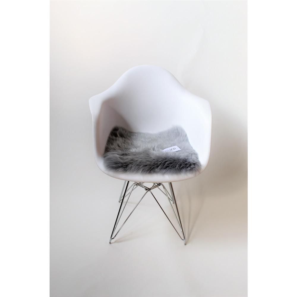 Fibre Sheepskin Seat Pad - Square Platinum