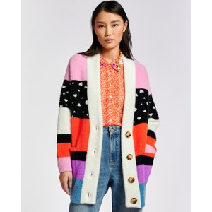 Essentiel Antwerp Zydra O/Sized Stripe Cardi White/Multi