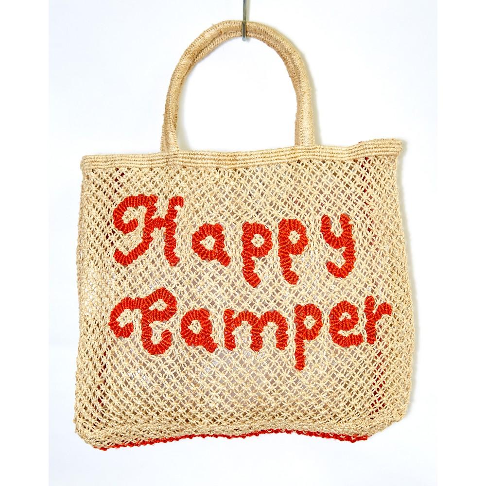 The Jacksons Happy Camper Large Jute Bag Natural/Spice
