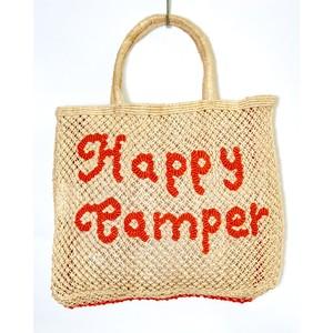 Happy Camper Large Jute Bag Natural/Spice