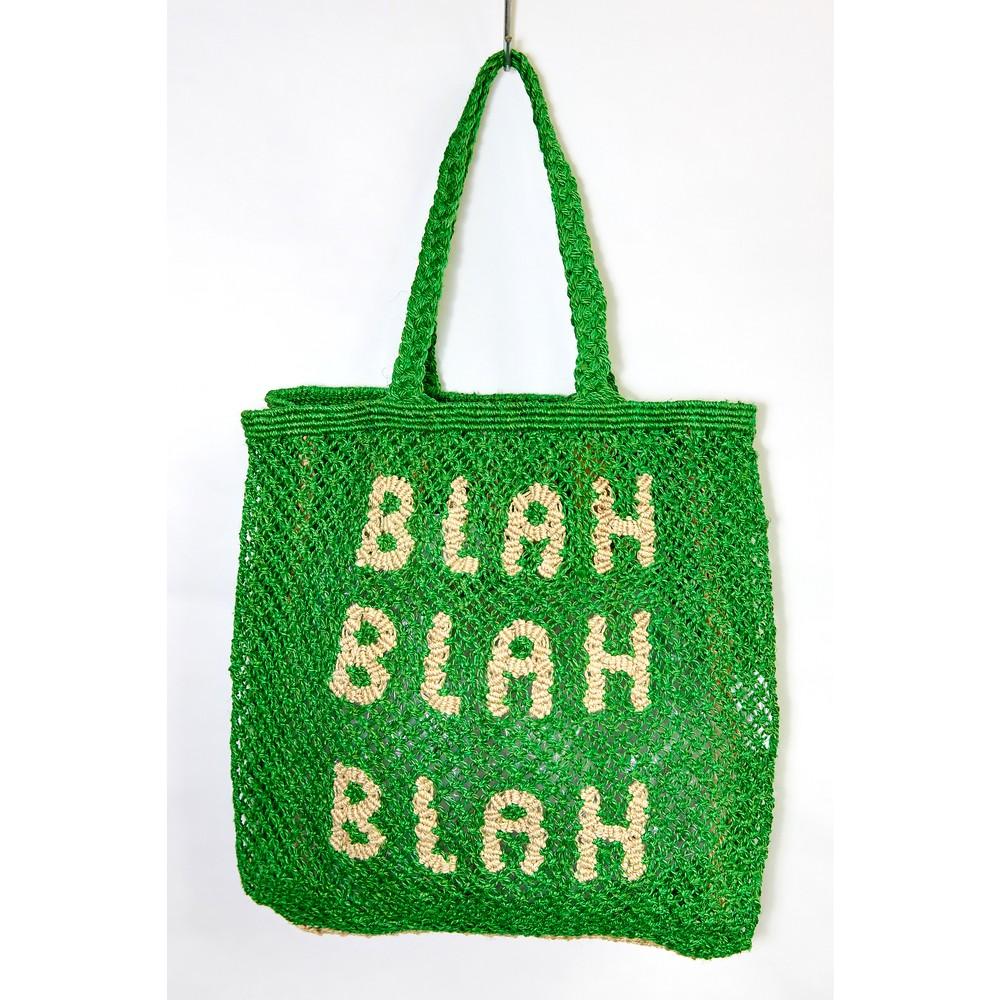 The Jacksons BLAH BLAH BLAH Jute Bag Green/Natural