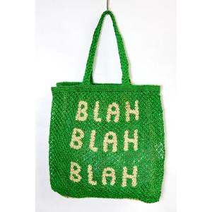 BLAH BLAH BLAH Jute Bag Green/Natural
