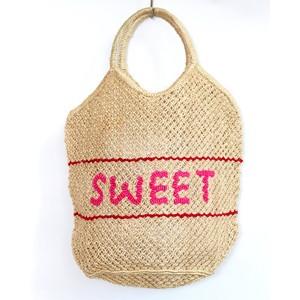 Millie Sweet Large Jute Bag Natural/Pink