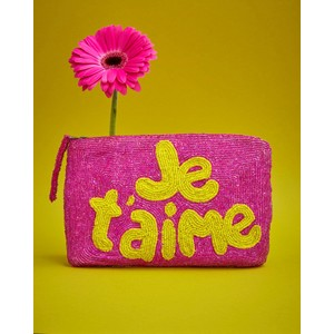 JeTaime Beaded Purse Pink/Yellow