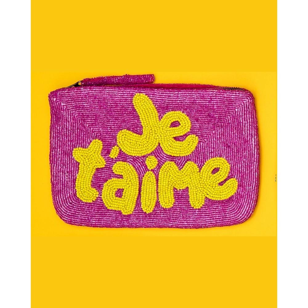 The Jacksons JeTaime Beaded Purse Pink/Yellow