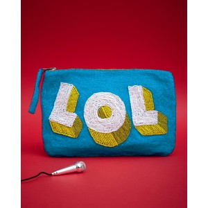 LOL Beaded Purse Blue/Yellow/White