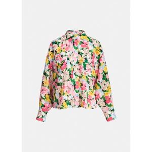 Essentiel Antwerp Zunco Sheer Floral Shirt Multicolour
