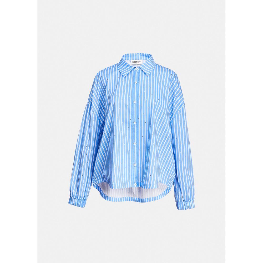 Essentiel Antwerp Zaboon R/stone Stripe Shirt Blue/White
