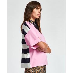 Zrad S/S Stripe Back Sweater Pink/Navy/White Stripe