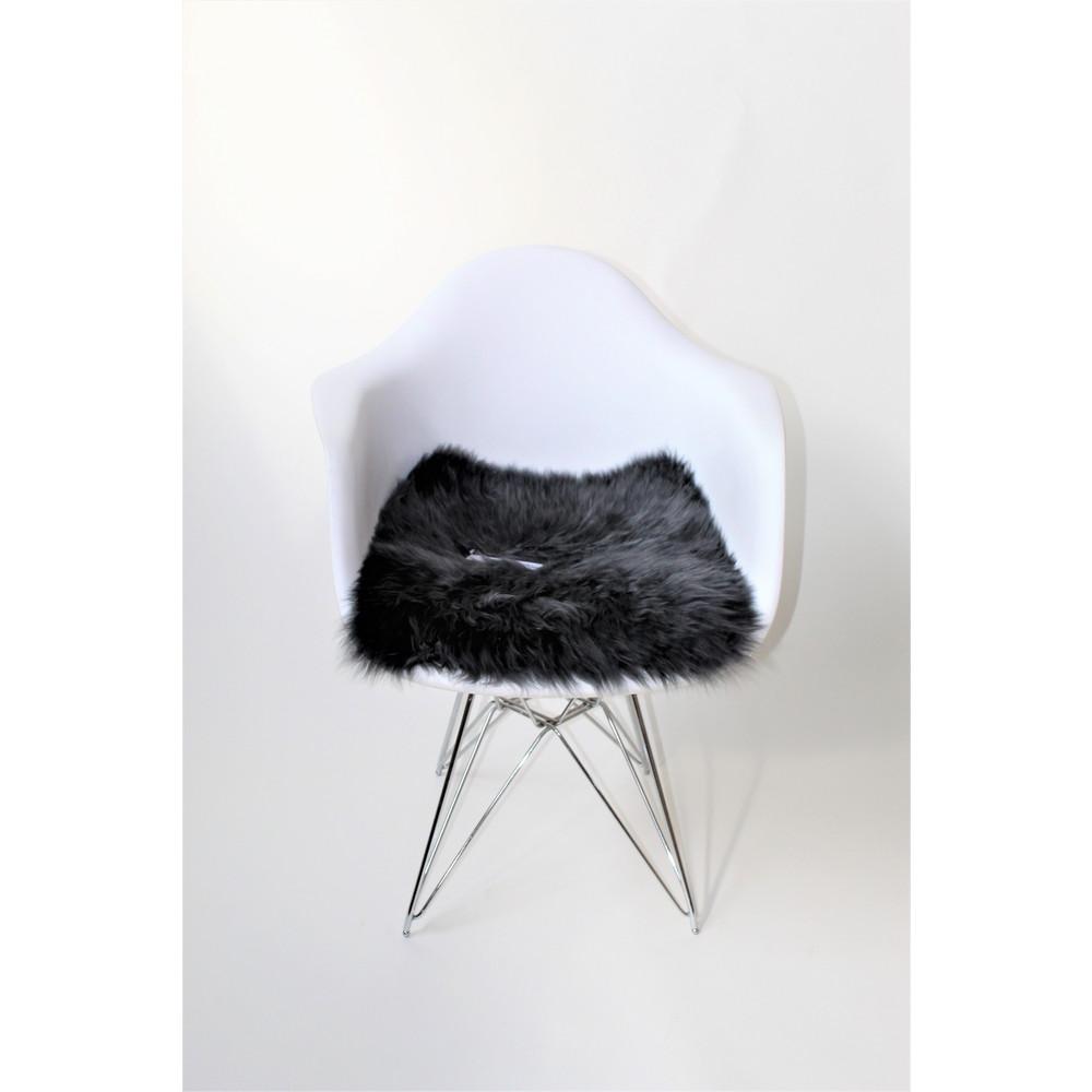 Fibre Sheepskin Seat Pad - Square Steel