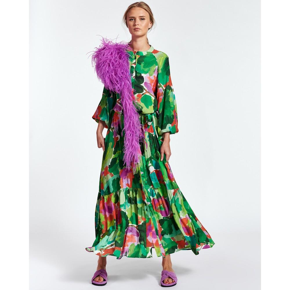 Essentiel Antwerp Zebel O/Size Floral Maxi Dress Green/Multi